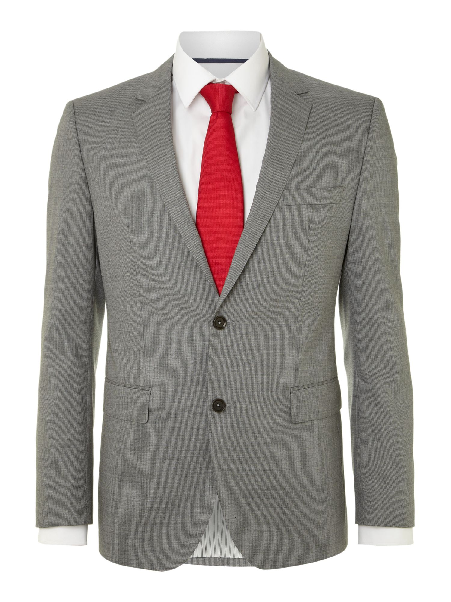 Fine stripe wool suit