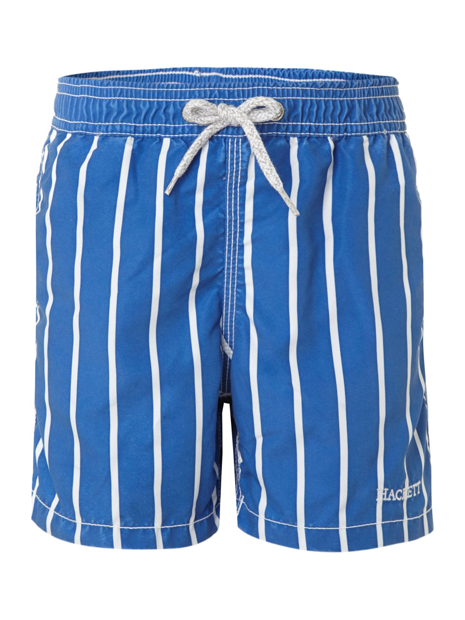 Boy`s white stripe swim shorts