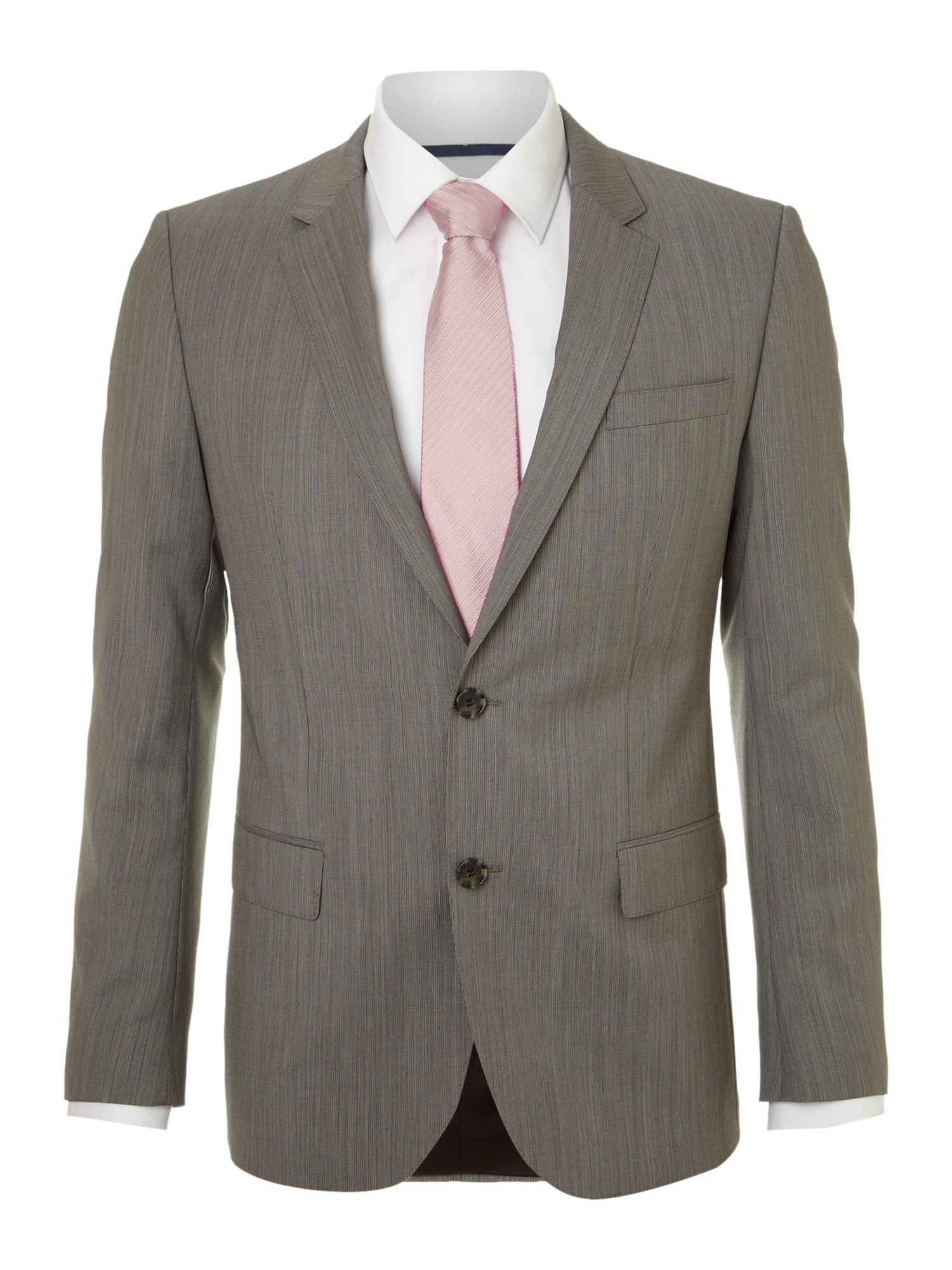Huge Genius slim fit textured suit