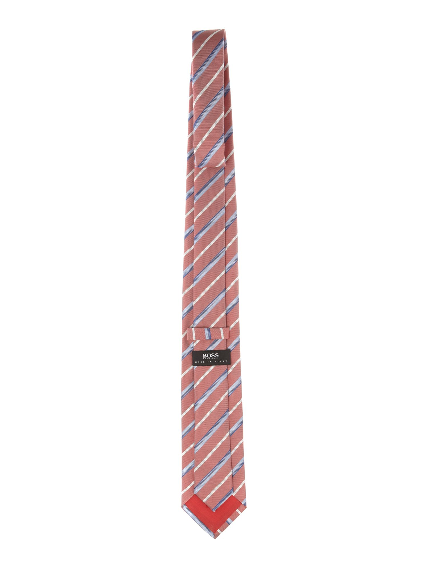 Wide multi stripe tie