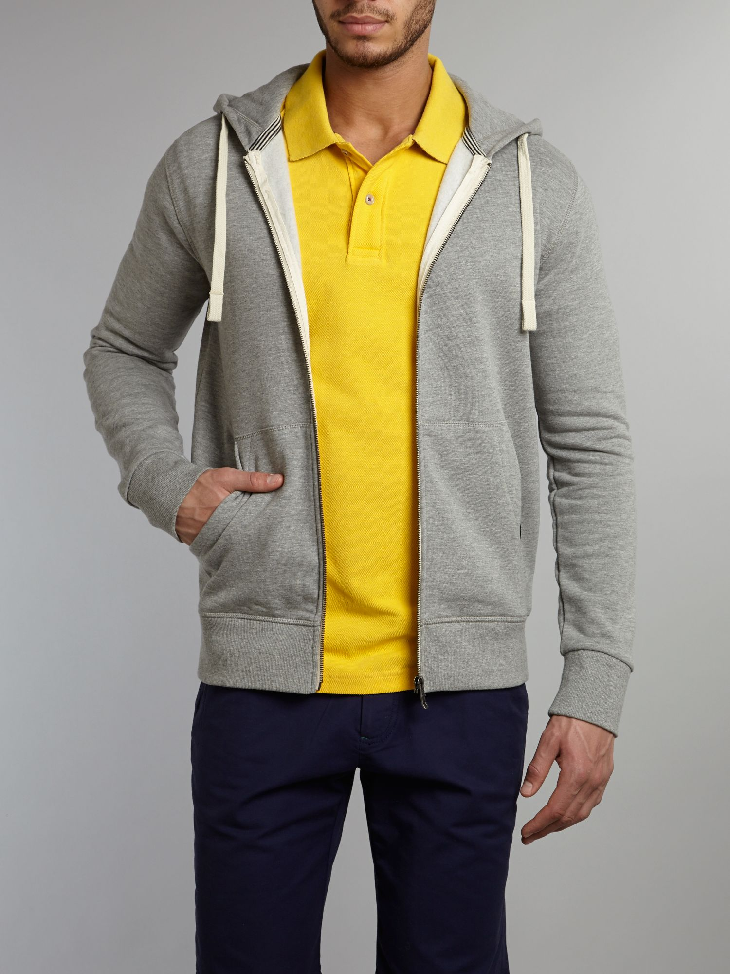 Zip-through hoody