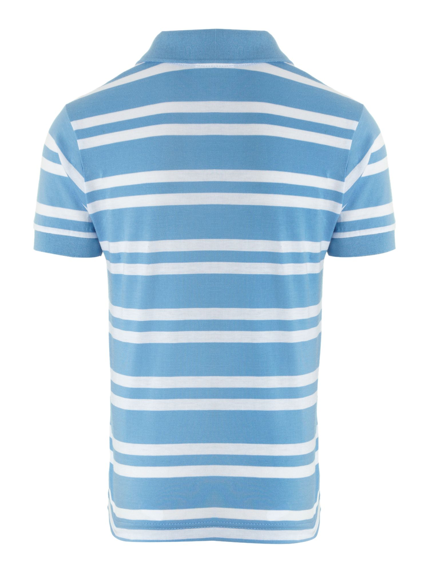 Boy`s jersey stripe classic polo shirt