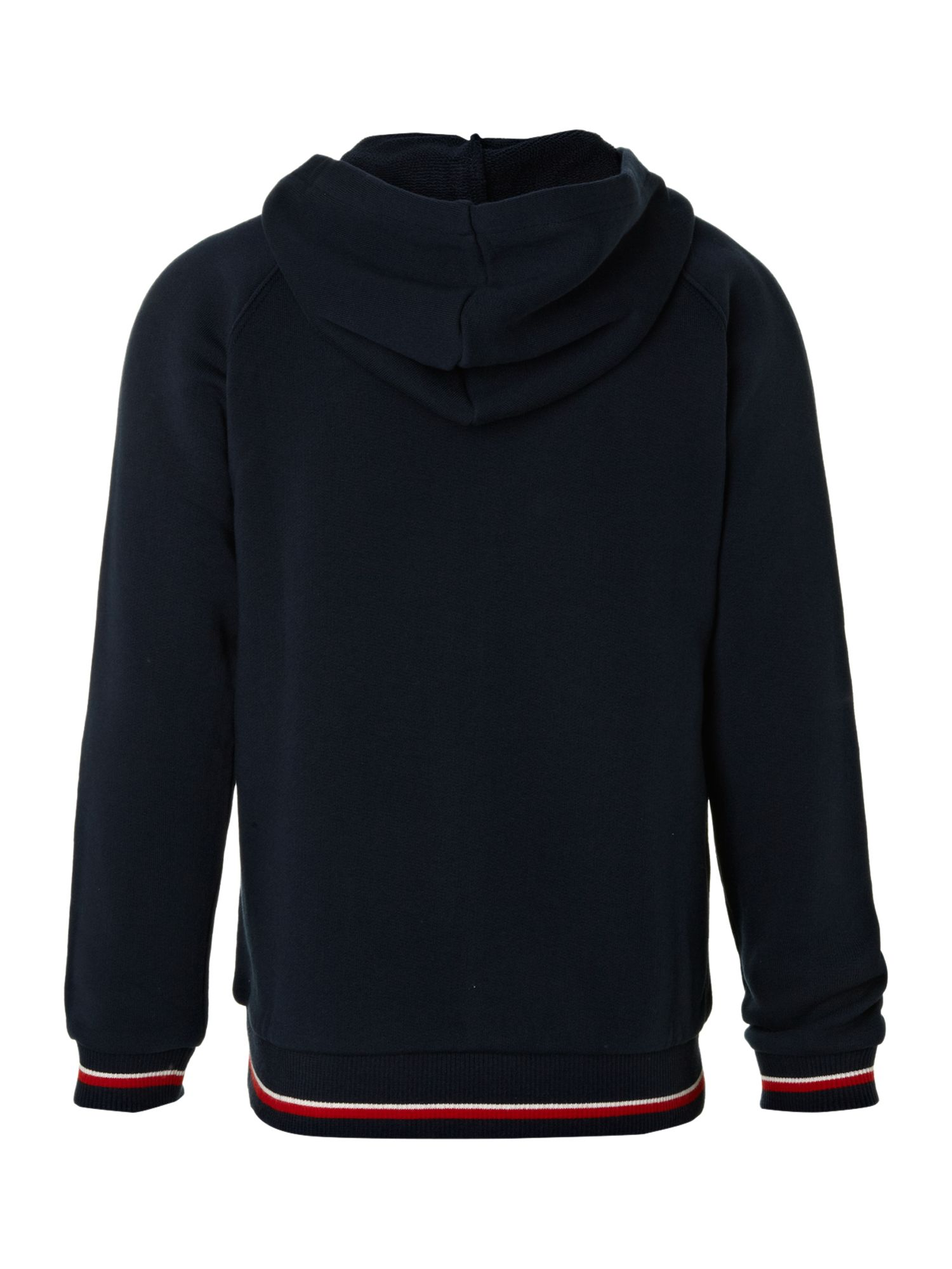 Boy`s zip-through navy hoody