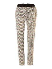 Printed cigarette trouser