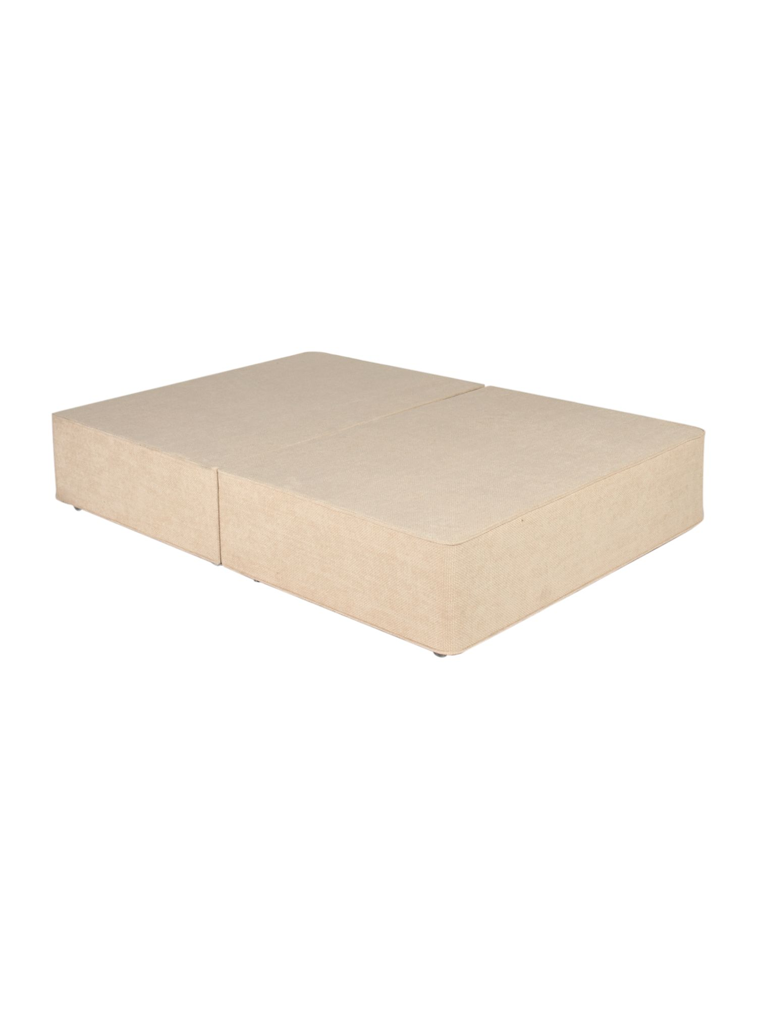 Cream double platform top divan base