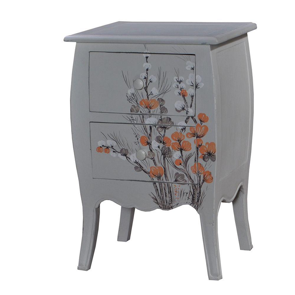 Wildflower 2 drawer bedside chest