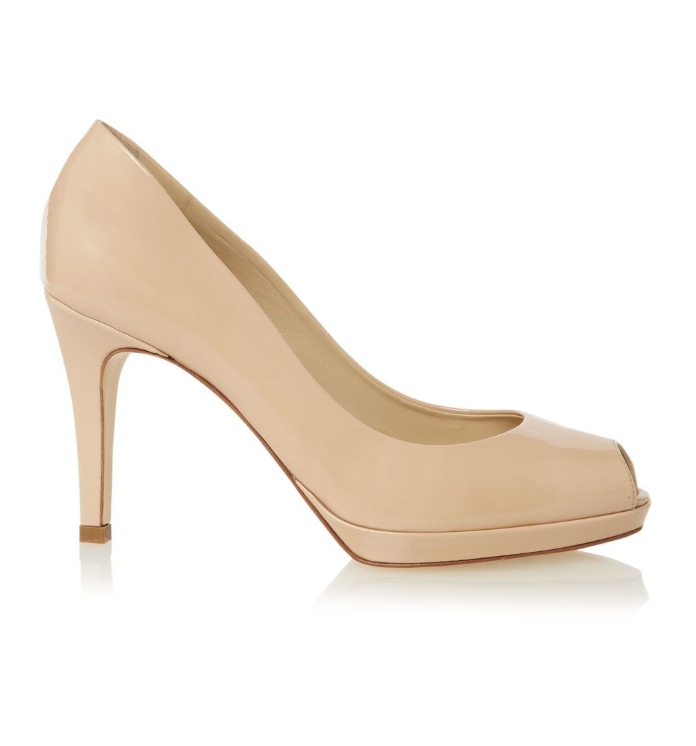 Leila peep toe court