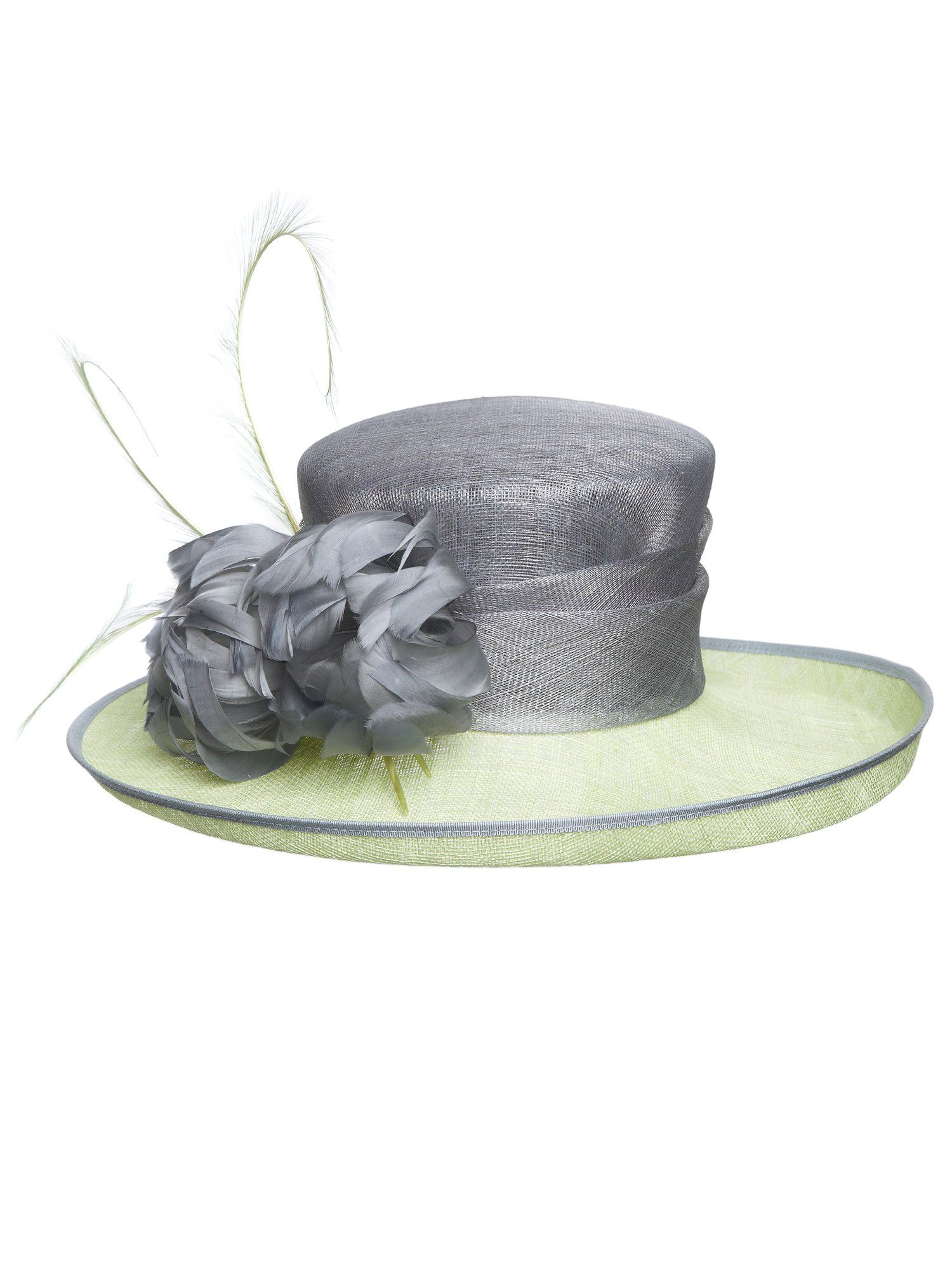 Curled feather occasion hat