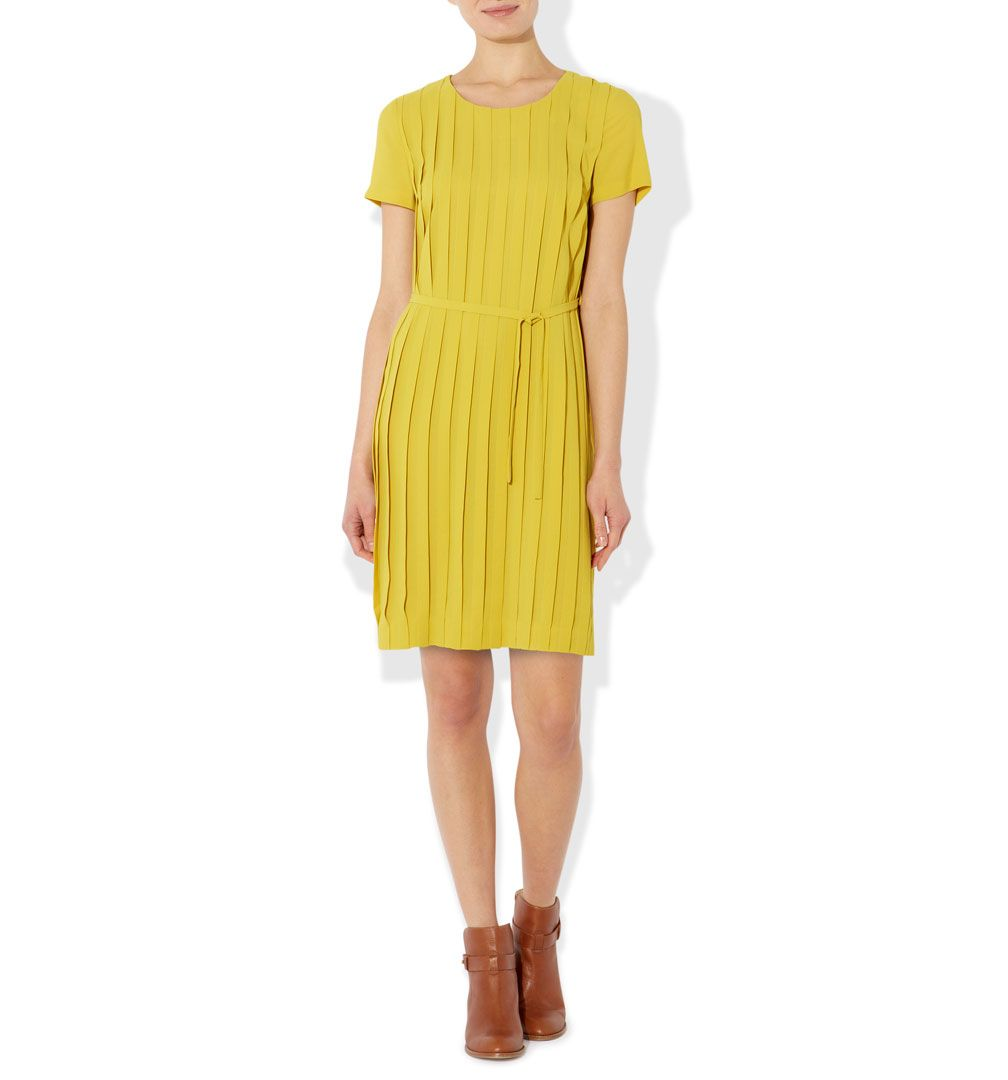 Pear pleat dress