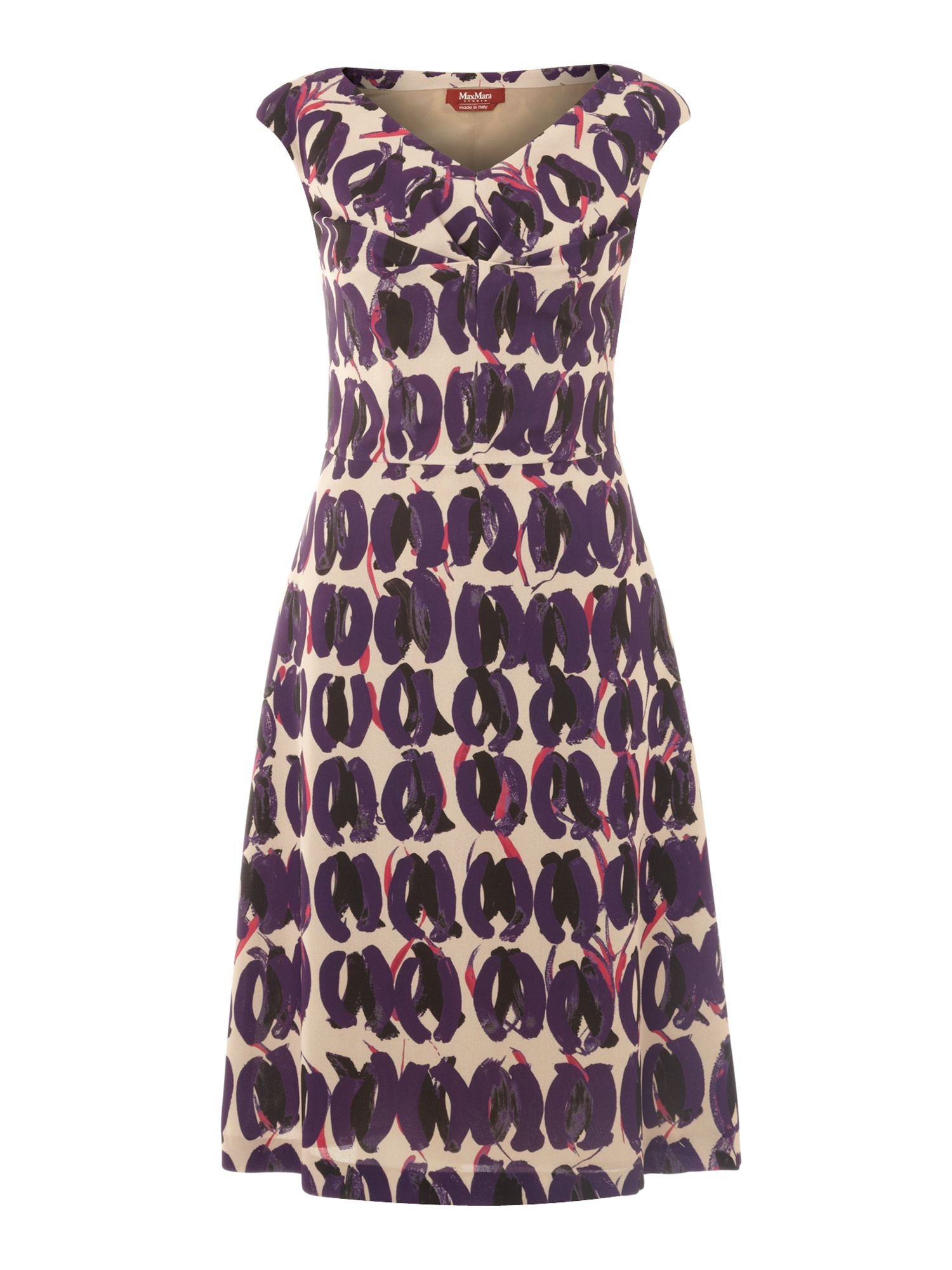 Aereo sleeveless printed shift dress