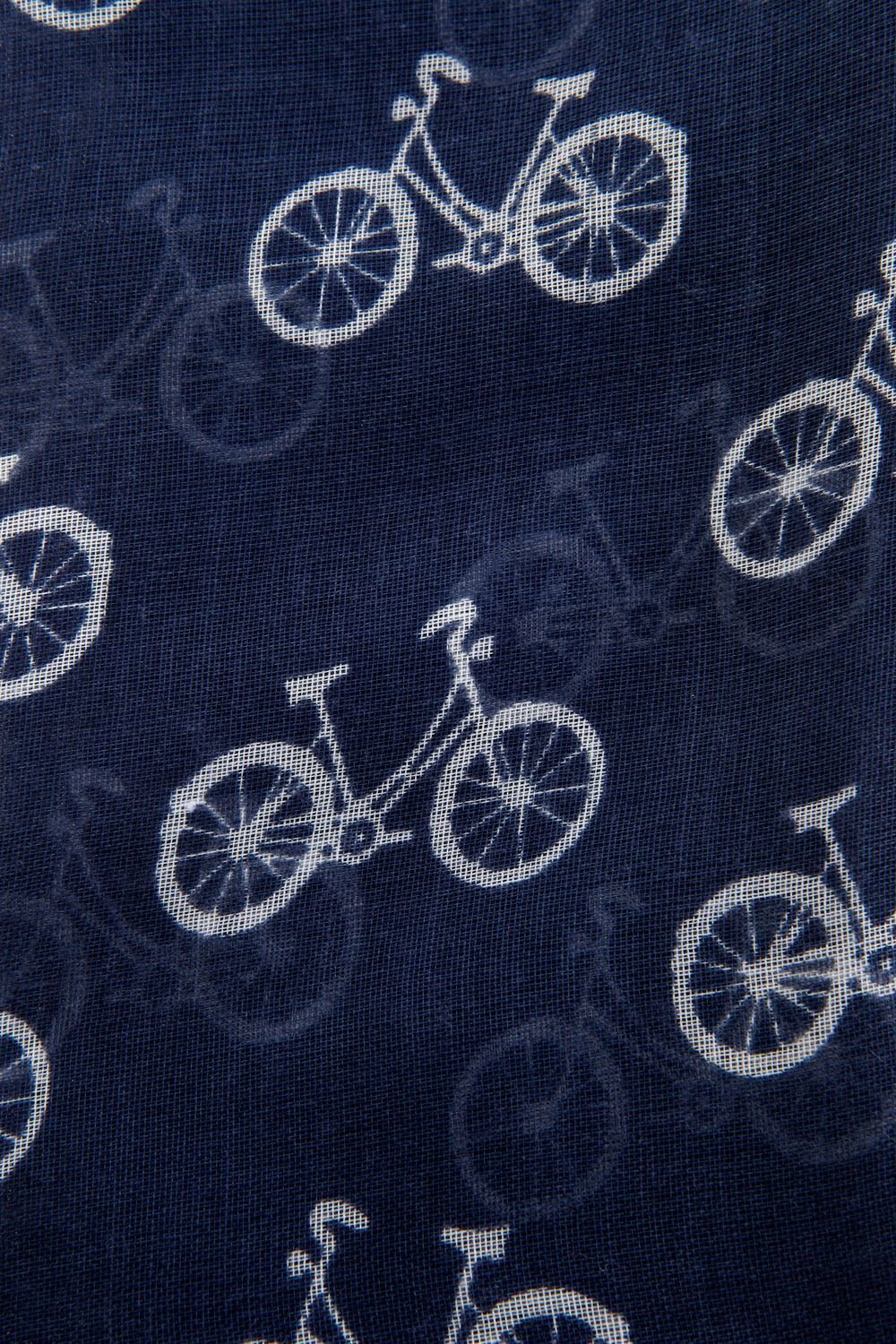 Bicycle print scarf