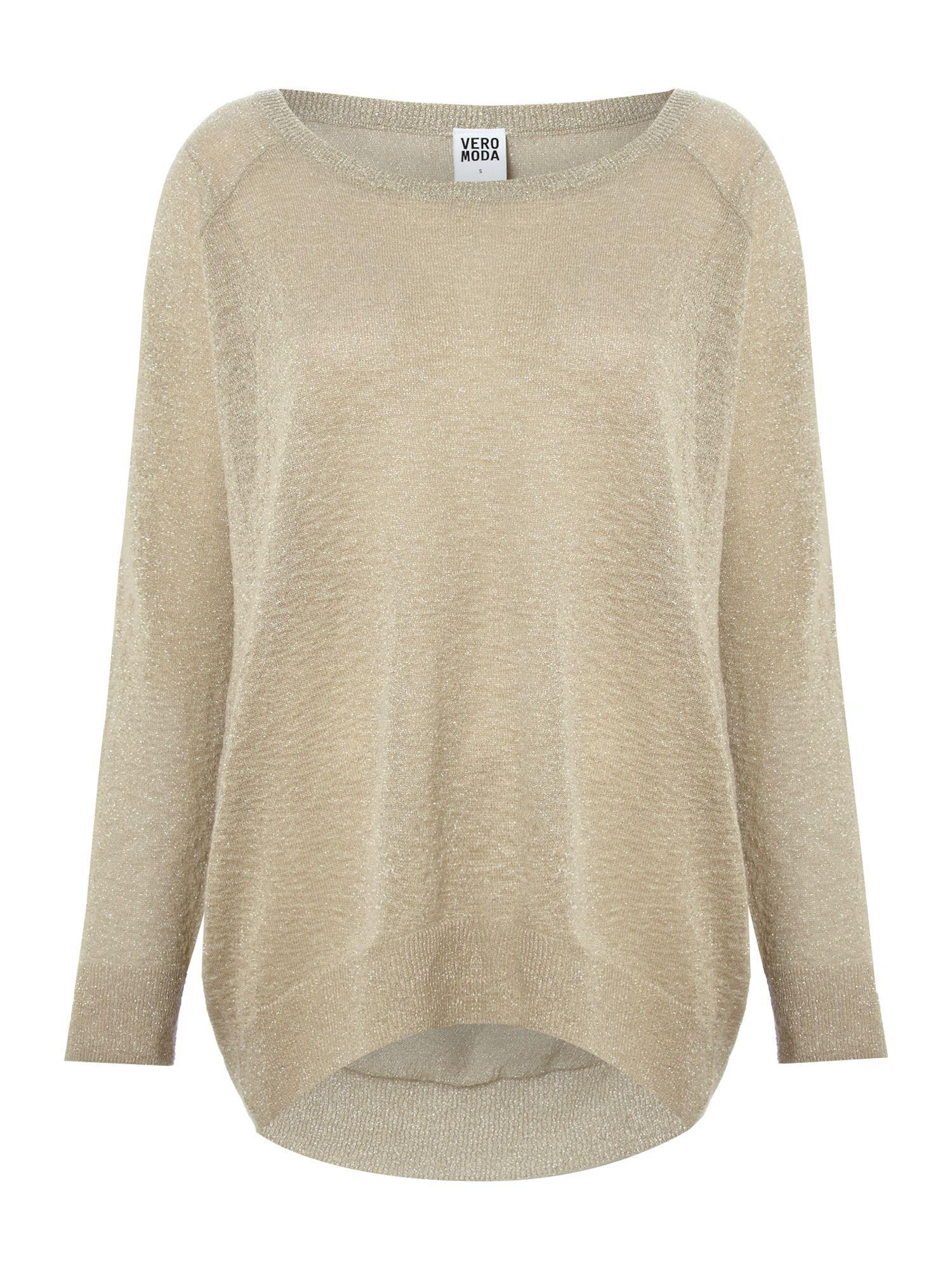 Metallic long sleeve knit