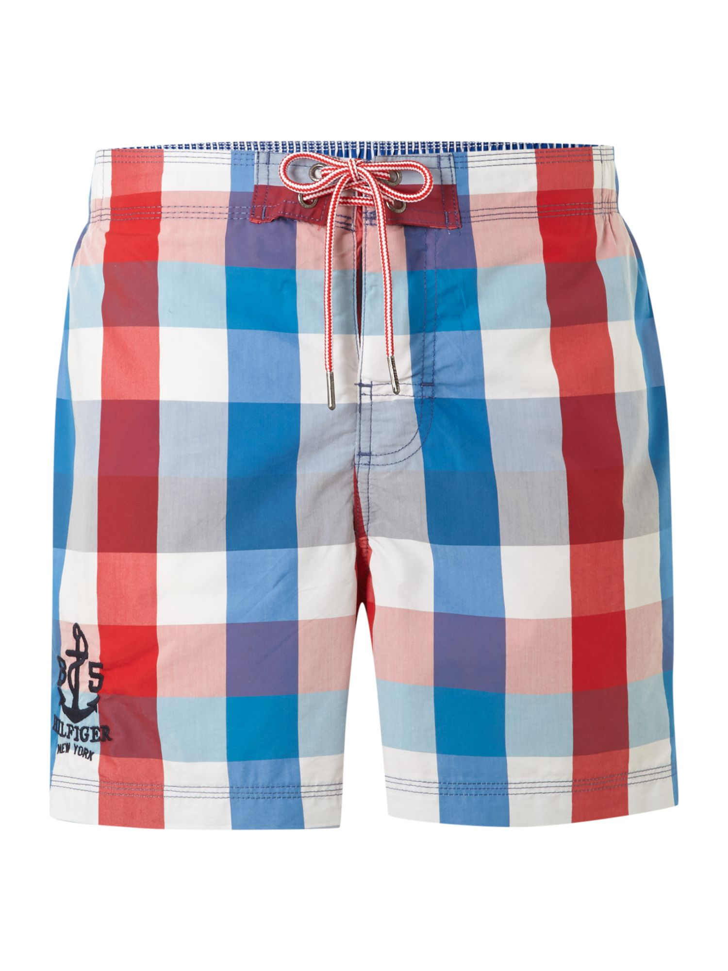 Mack multi gingham swim trunk