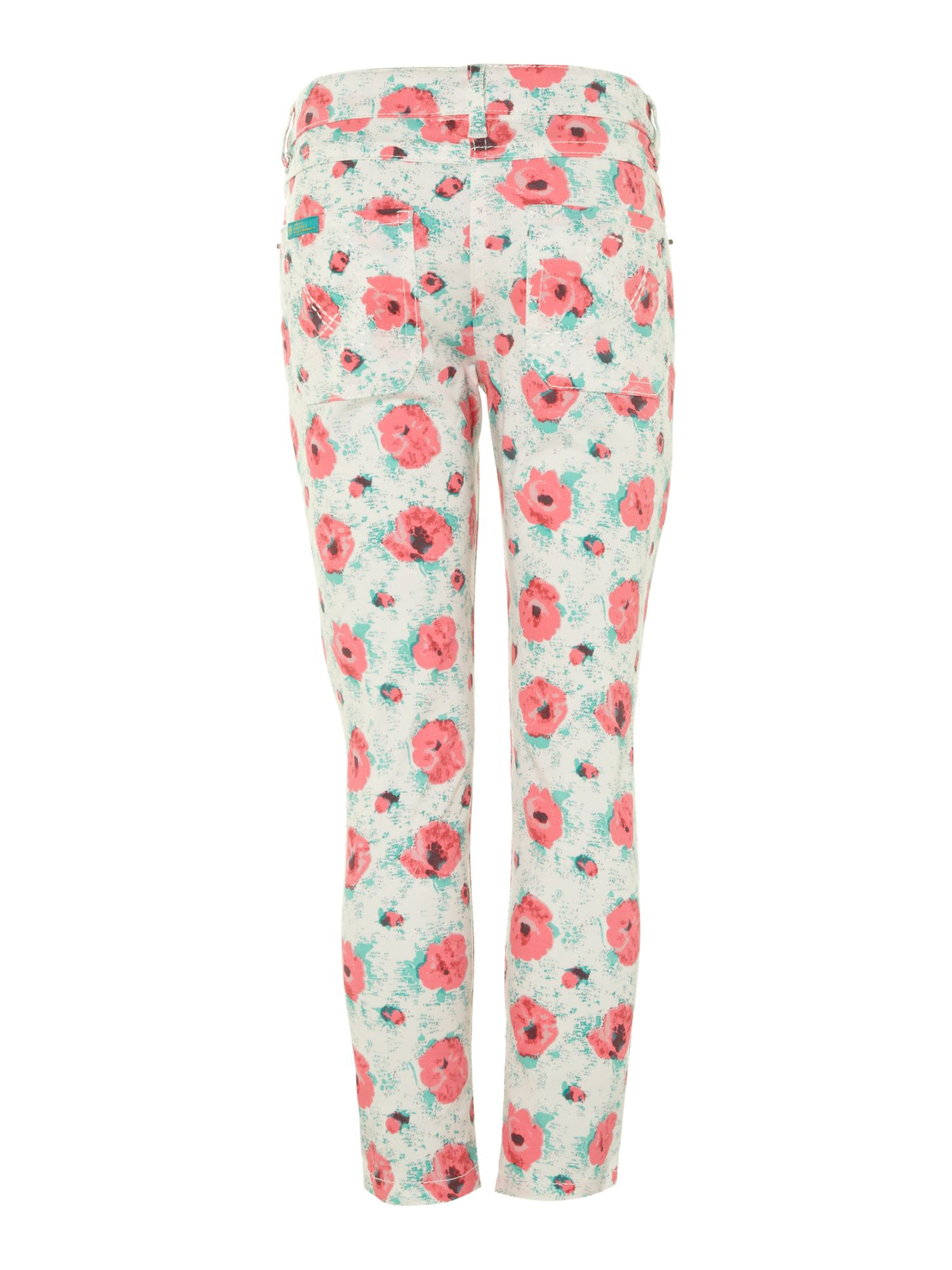 Girl`s rose printed jeans