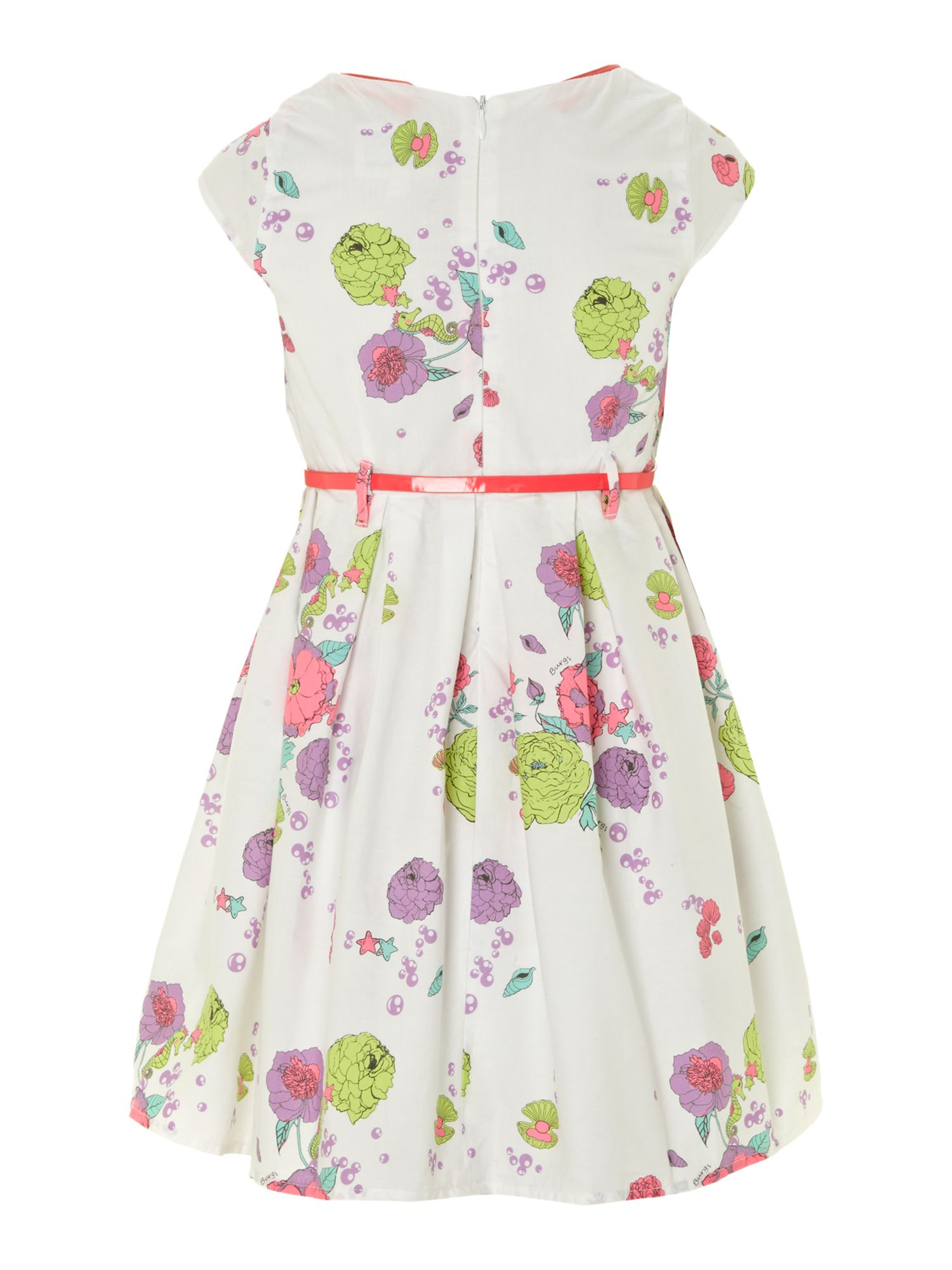 Girl`s floral party dress