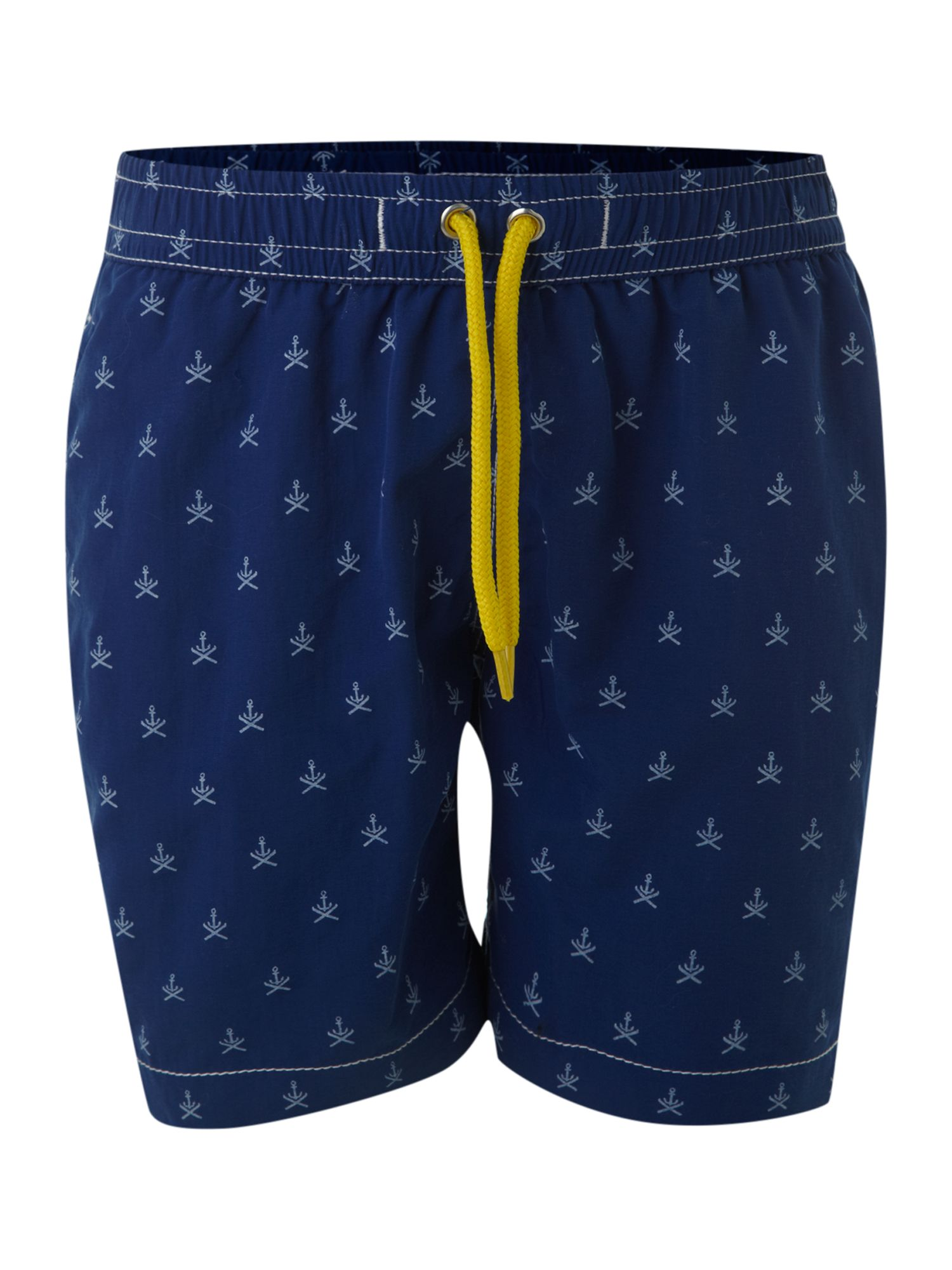 Boy`s anchor print swim shorts
