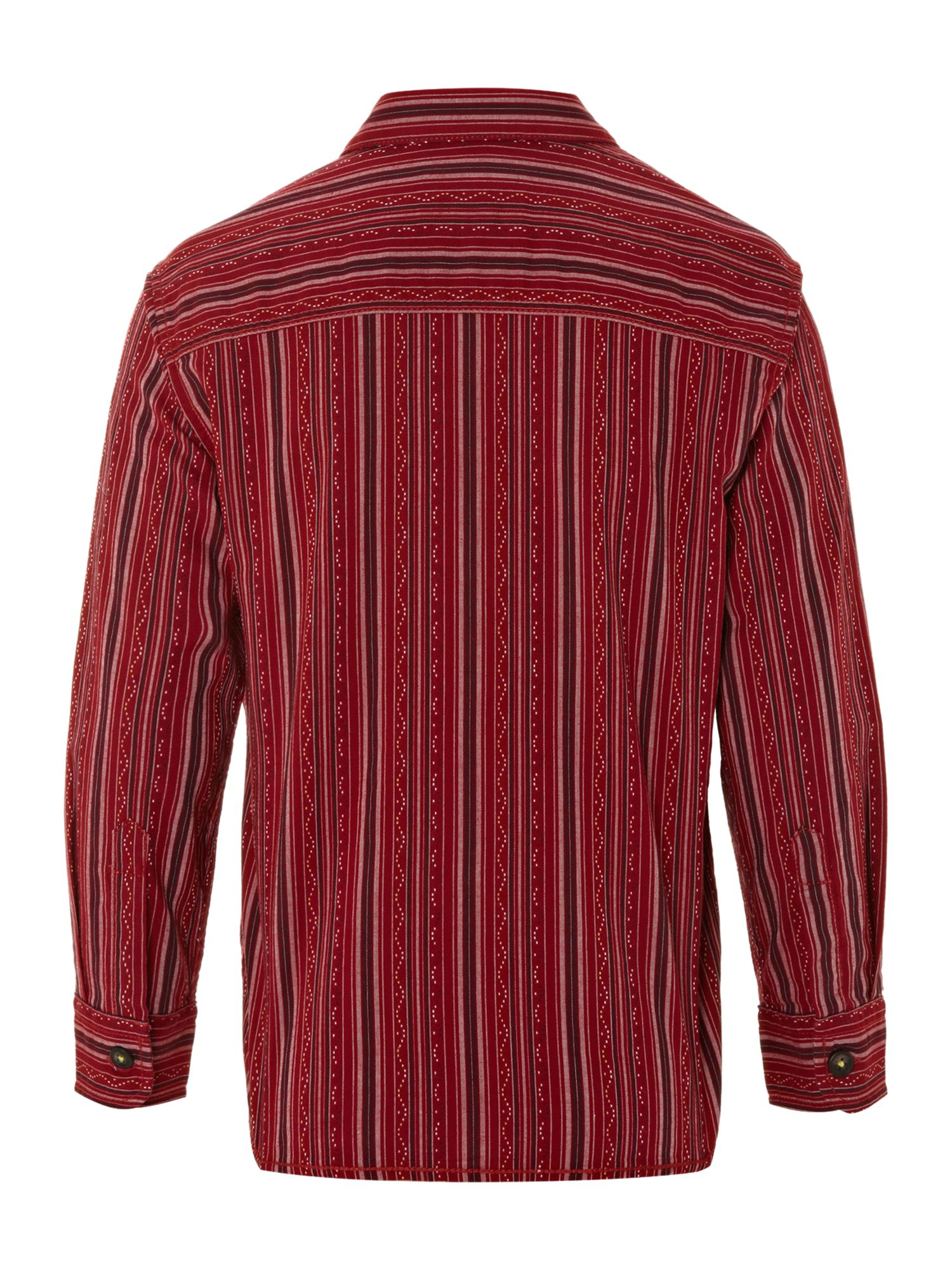 Boy`s textured stripe shirt