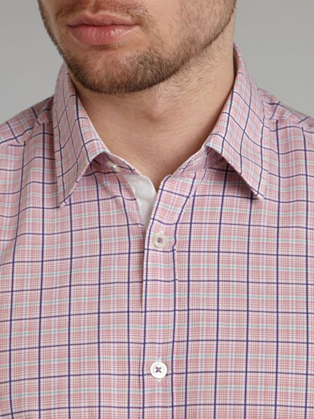 Hugo Boss Short sleeved checked shirt