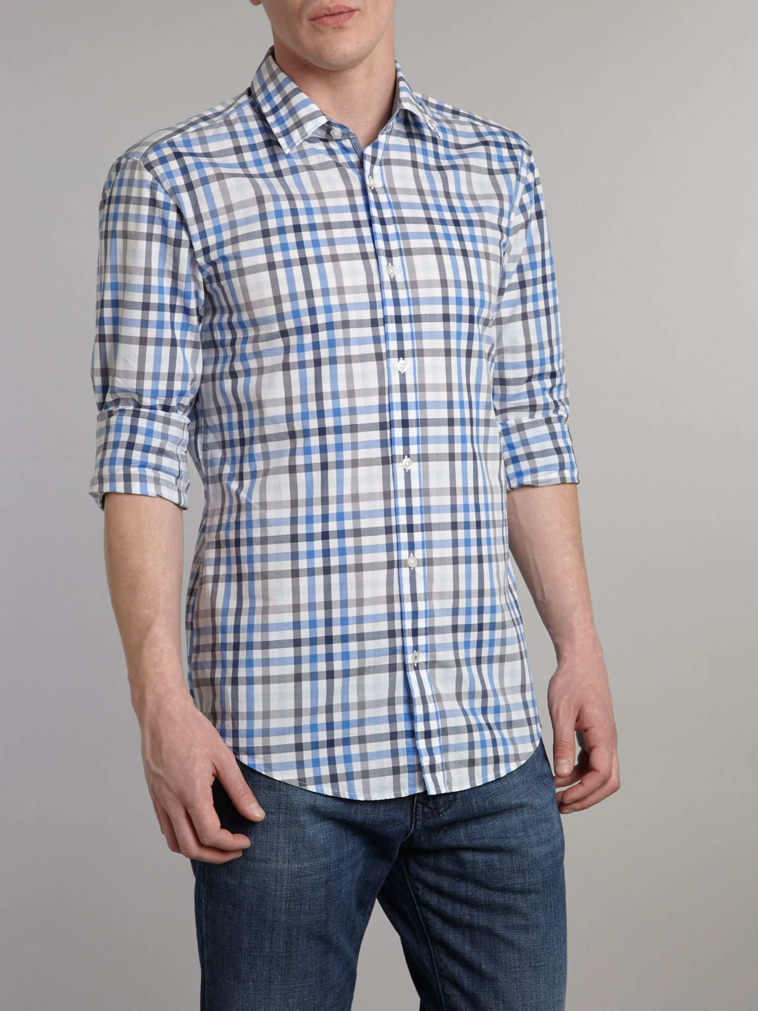 Large gingham checked shirt