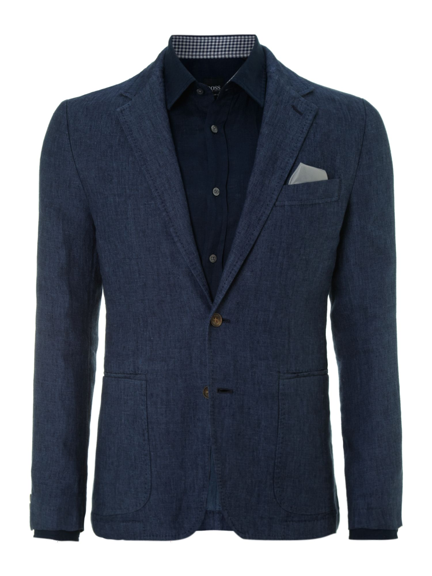 Linen single breasted blazer