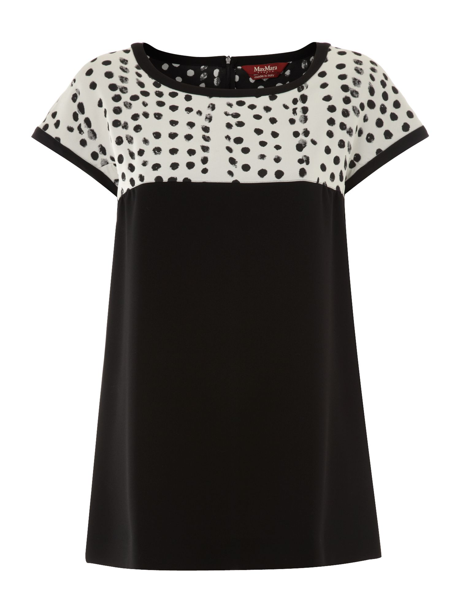 Rondine short sleeve spotted top