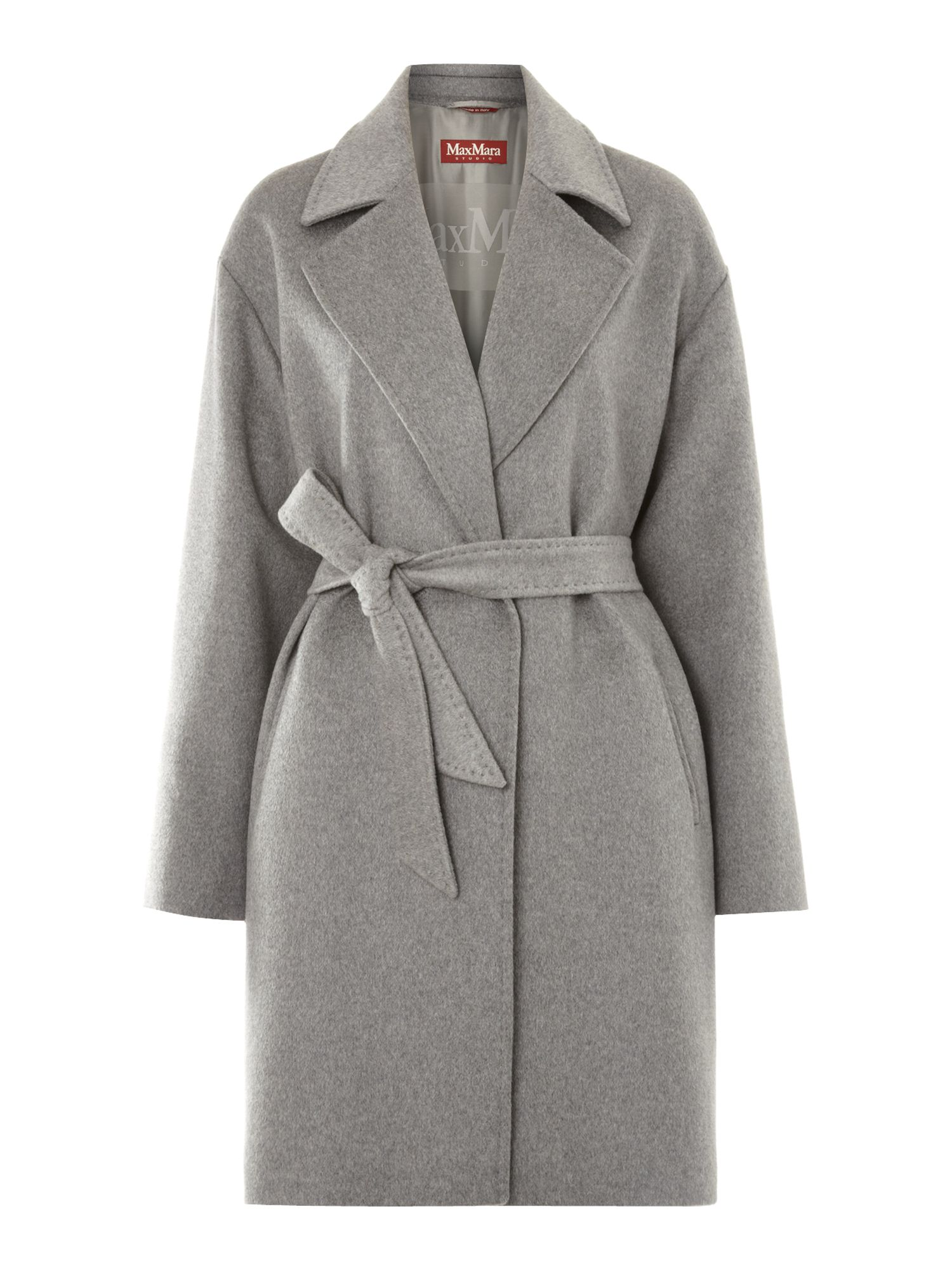 Giunco cashmere coat with belt