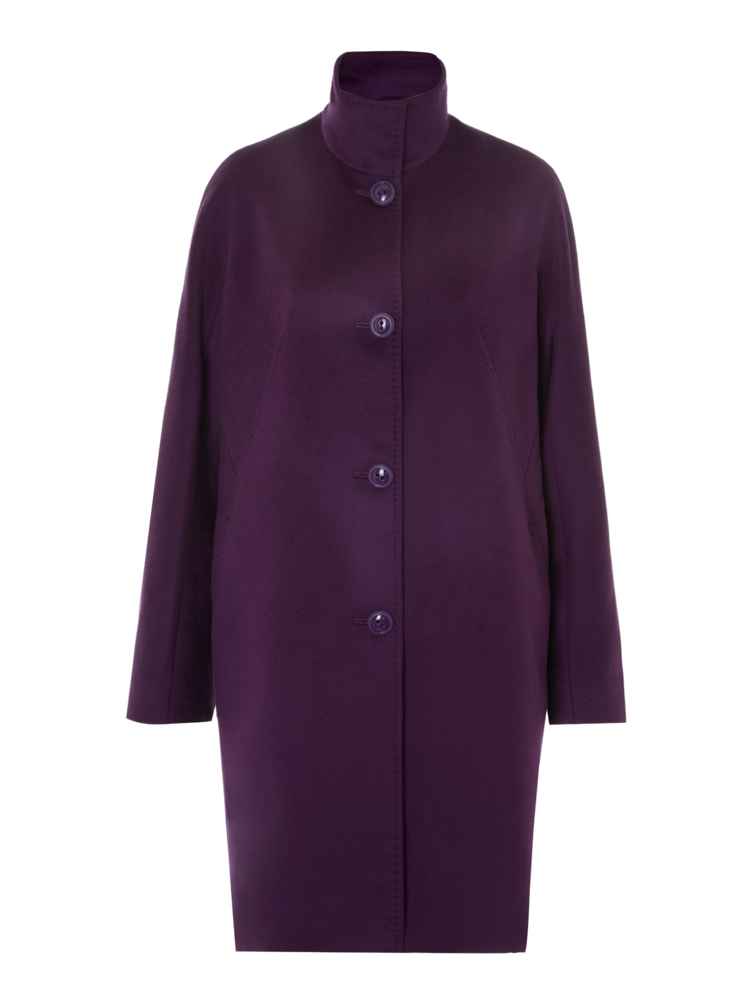 Licia funnel neck wool coat