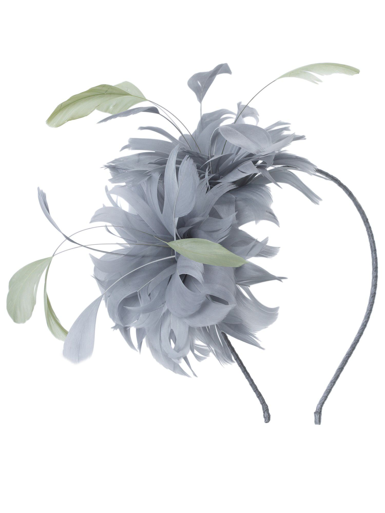 Zinc feather fascinator