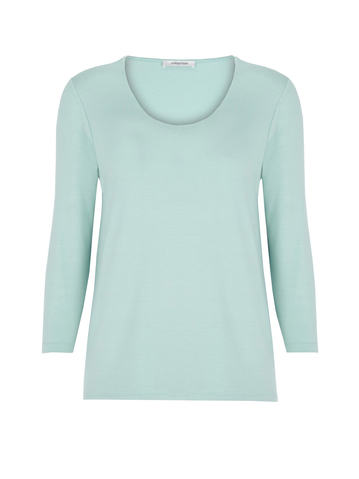 Mint scoop neck jersey top