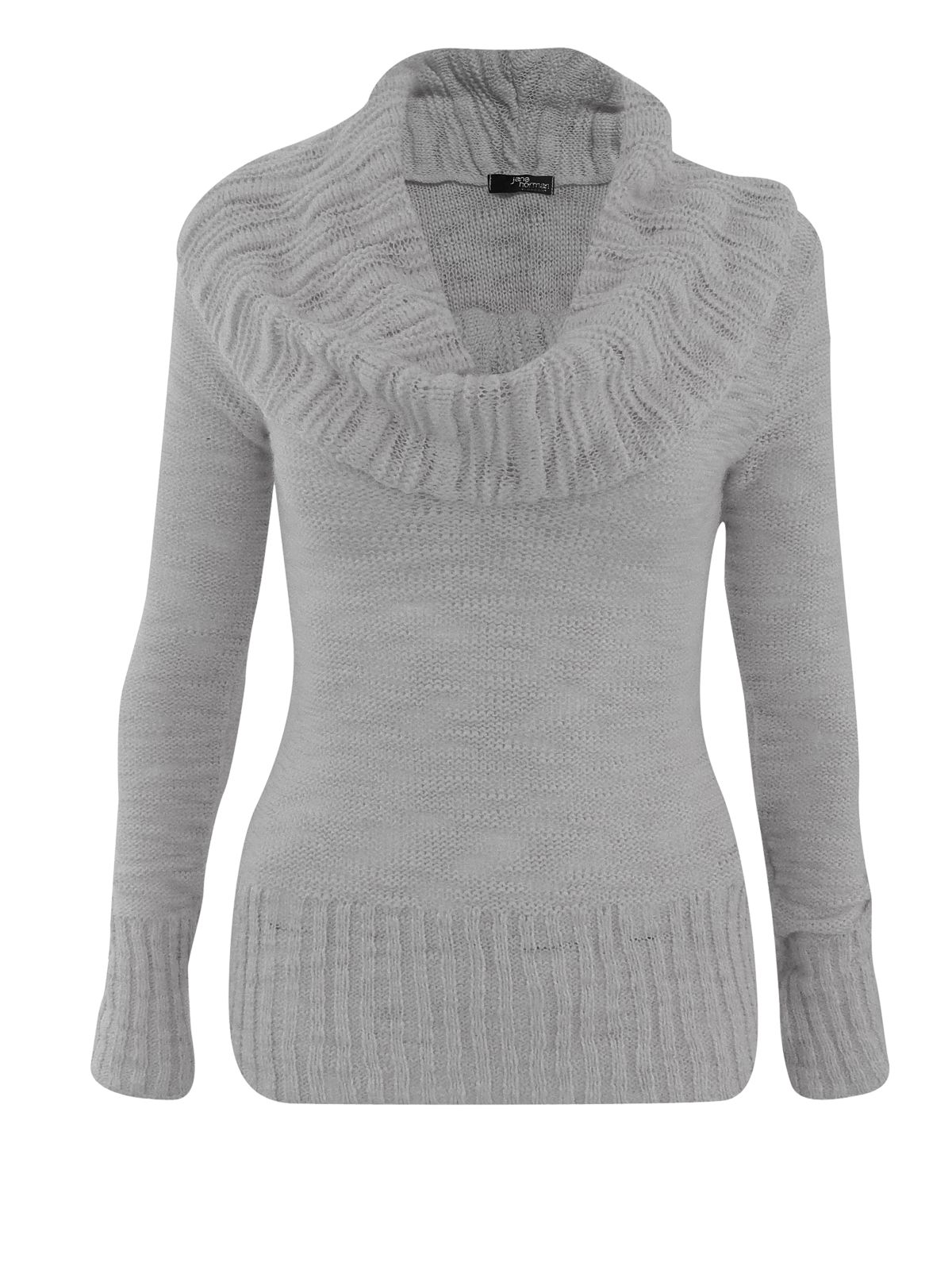 Cowl neck jumper