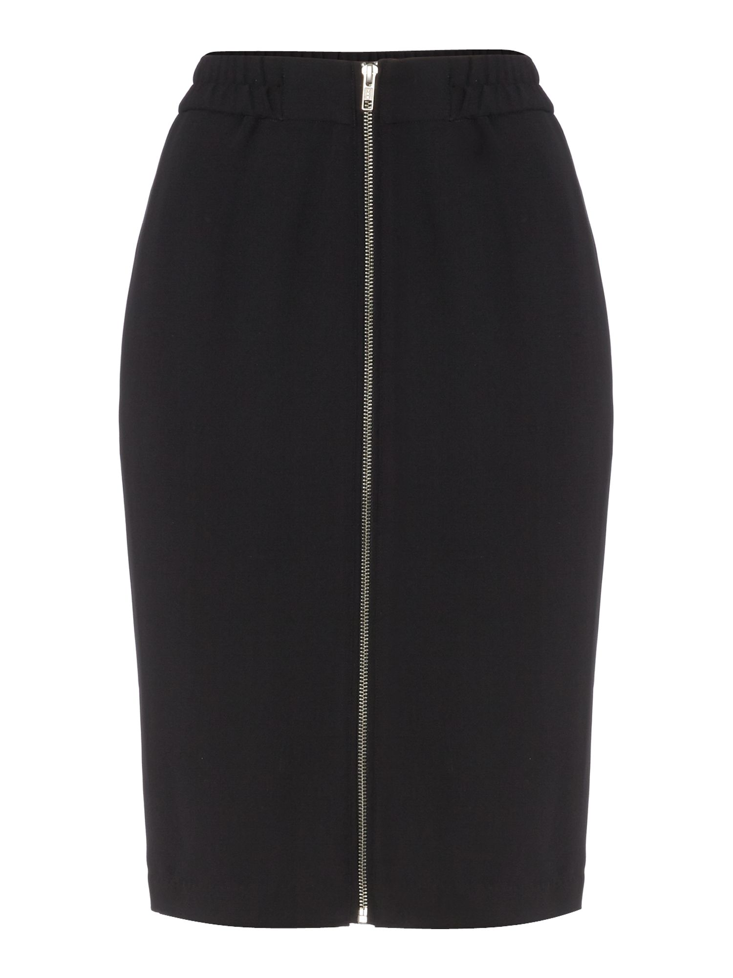 Zip front sport pencil skirt