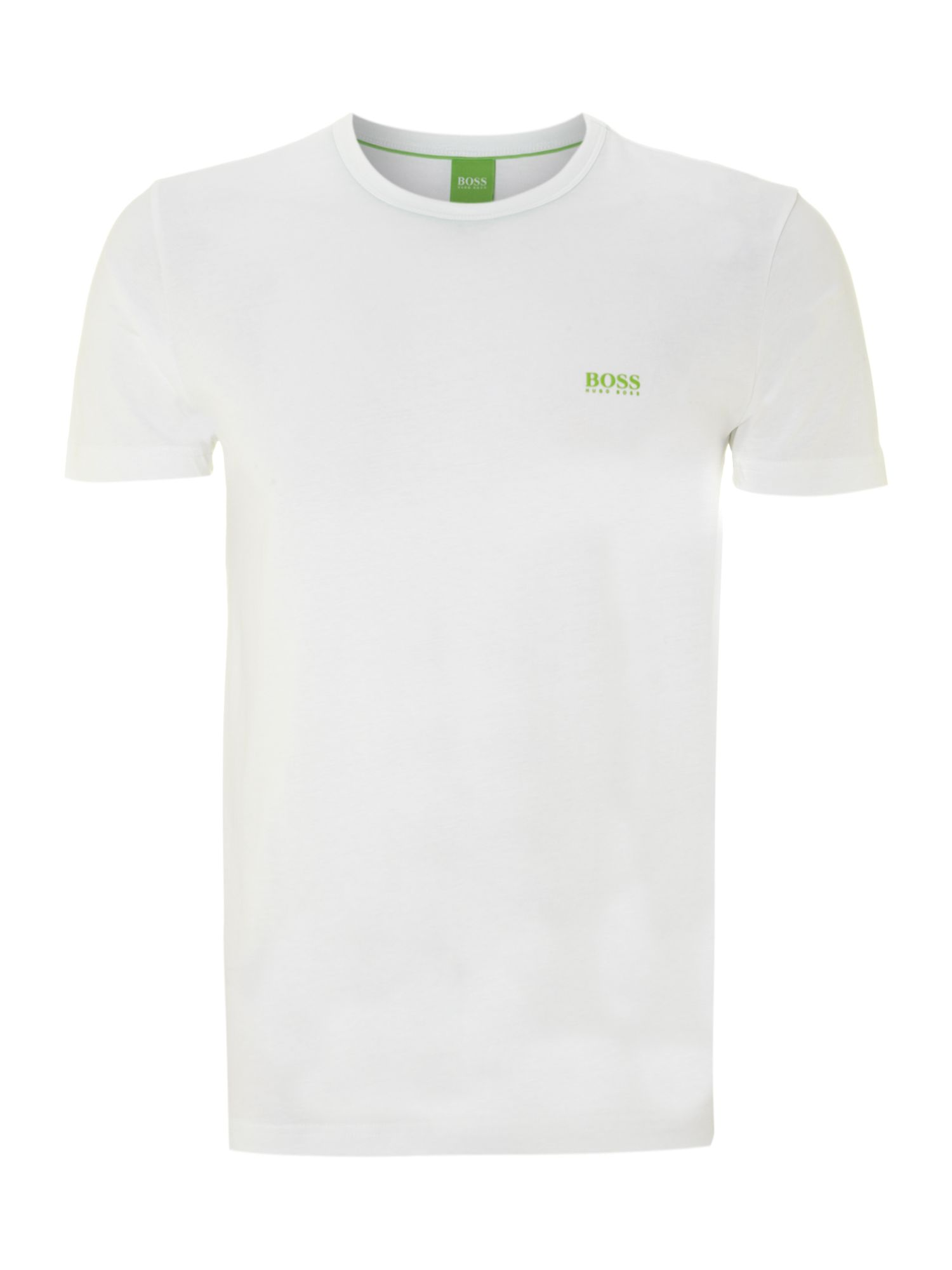 Men's Hugo Boss Regular Fit Crew Neck Logo T-Shirt, White