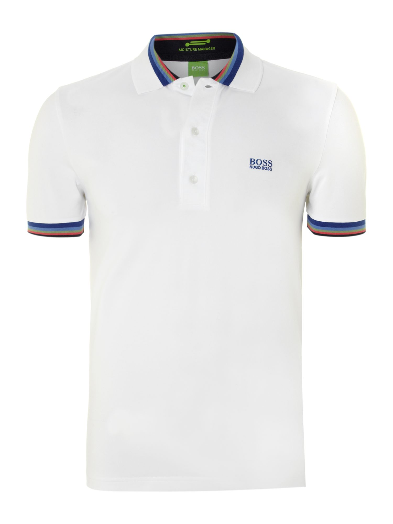 Multi stripe trim polo shirt
