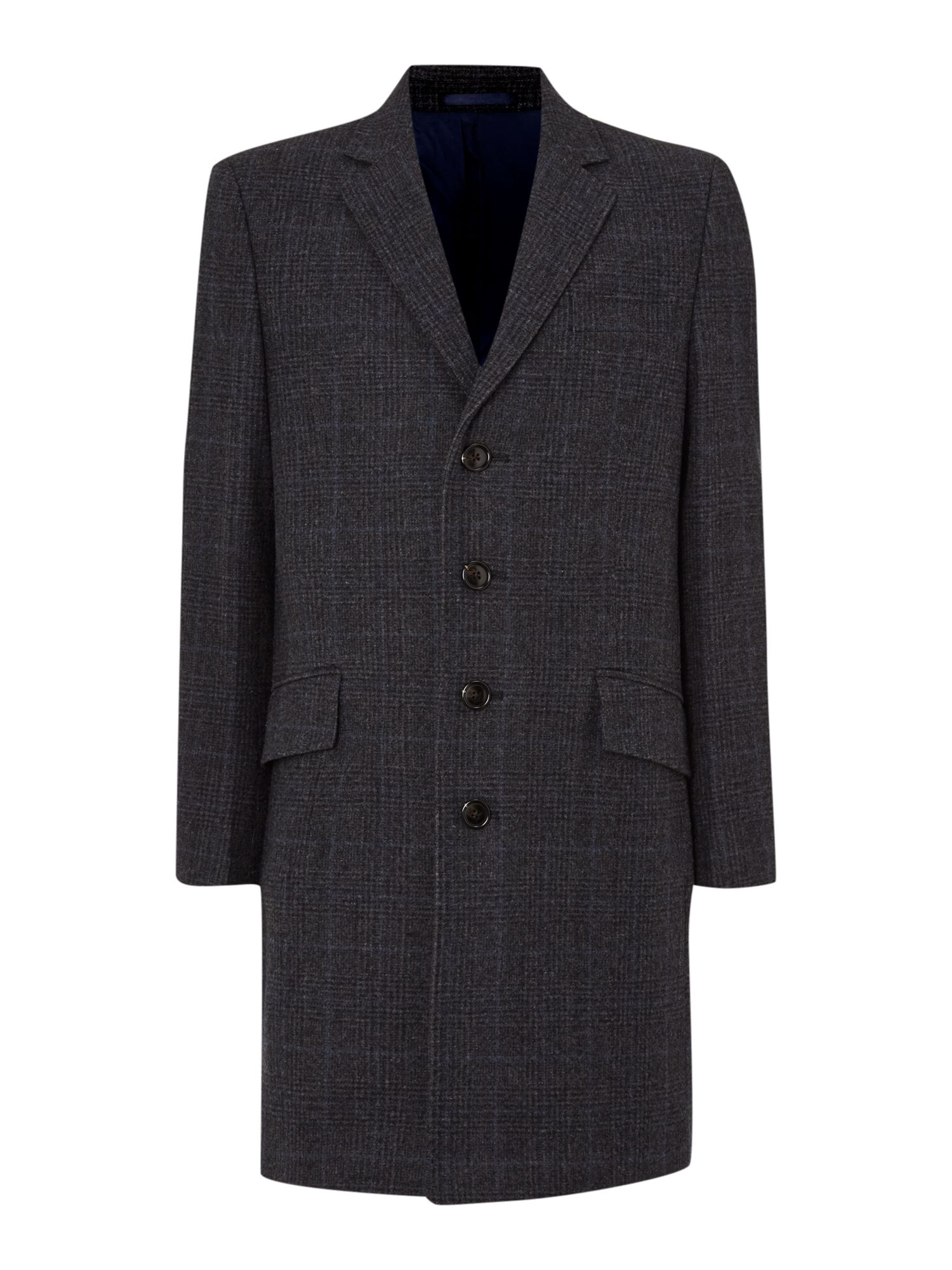 Barnack Prince Of Wales Check Overcoat