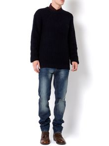 Dylan cotton waffle crew with chest pocket