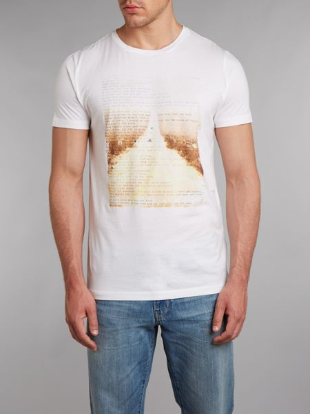 Hugo Boss Open road printed T-shirt