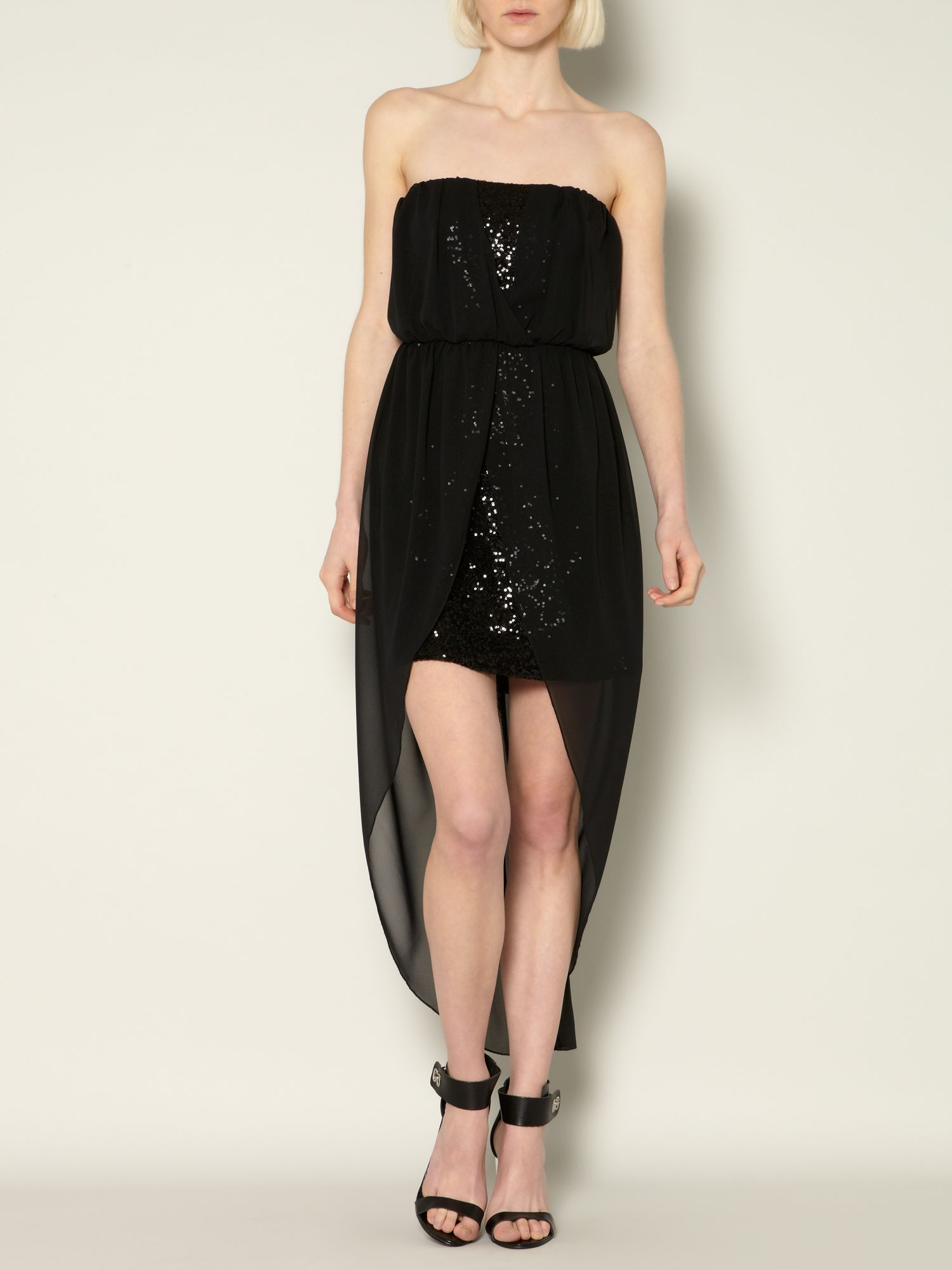 Chiffon & sequin dress