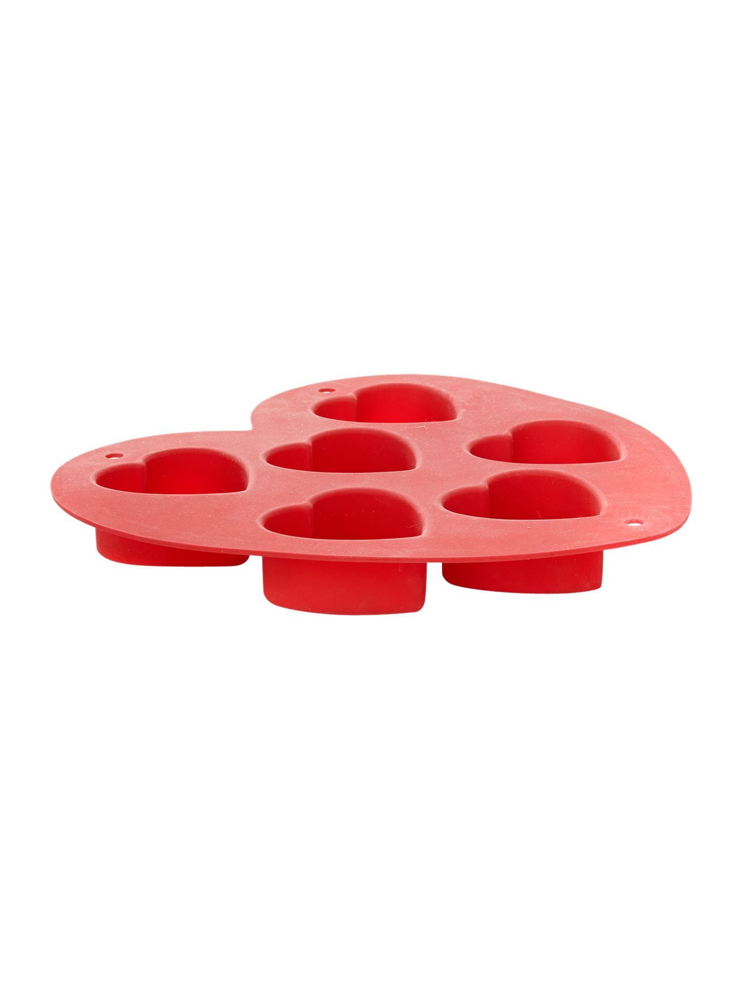 Silicone Mini Heart Mould, Red