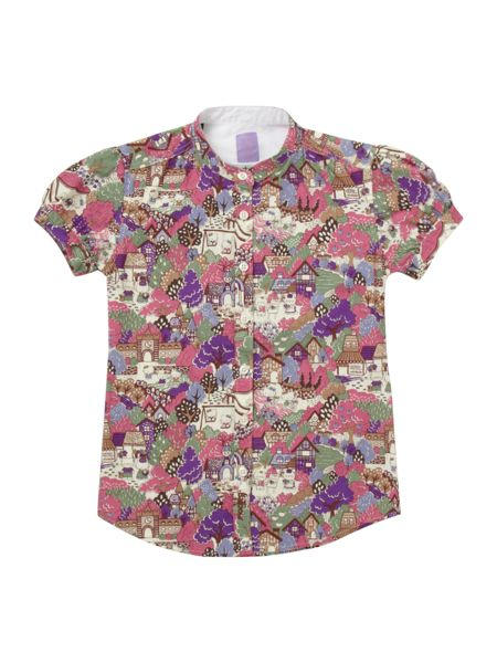 Barbour Girl`s Hello Kitty printed blouse