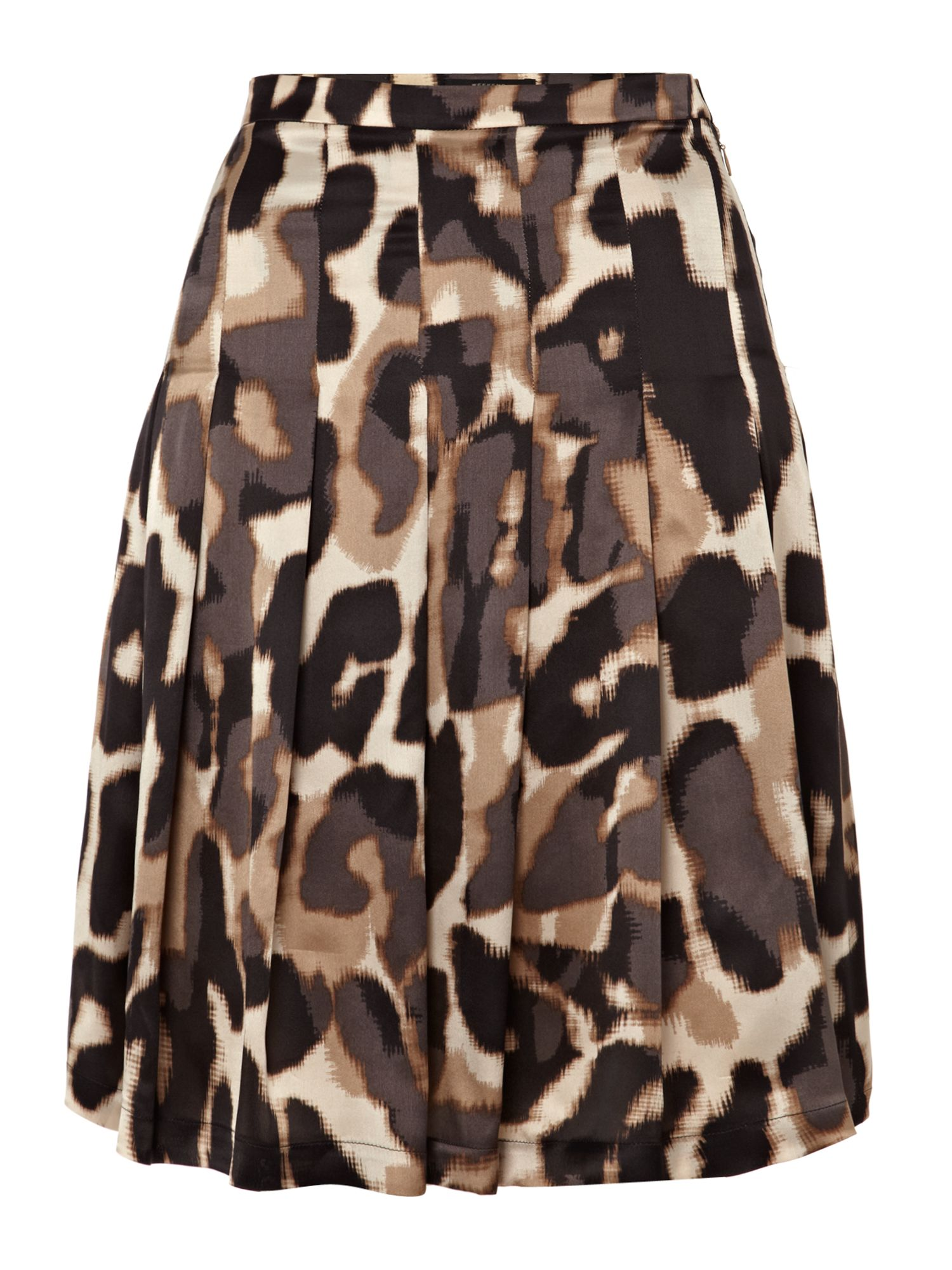 Piroga animal print knee length skirt