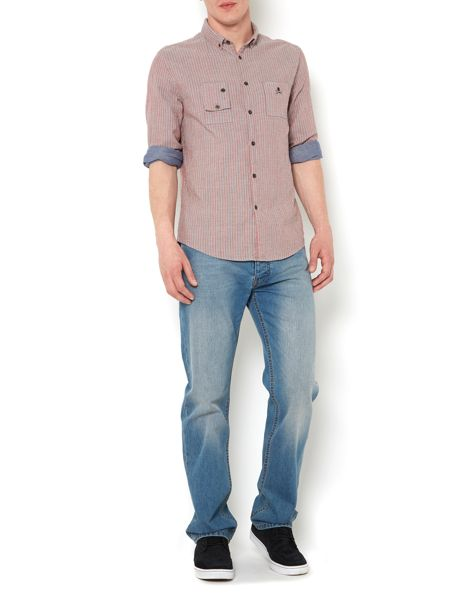 Label Lab Taylor red stripe double layer long sleeve shirt