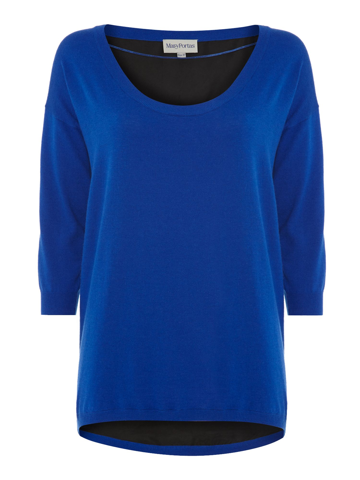 Silk back cashmere blend jumper