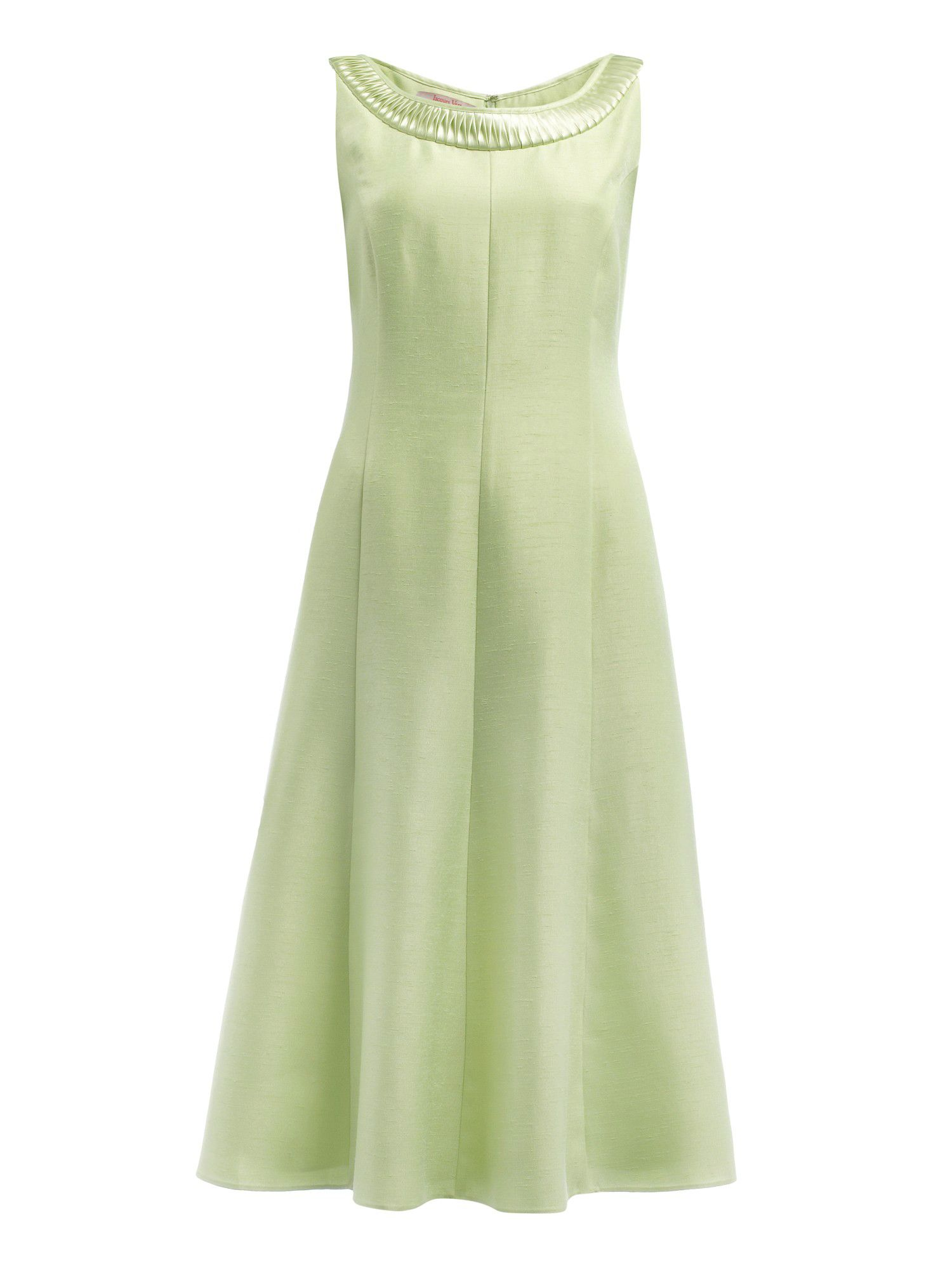 Apple pleated neckline dress