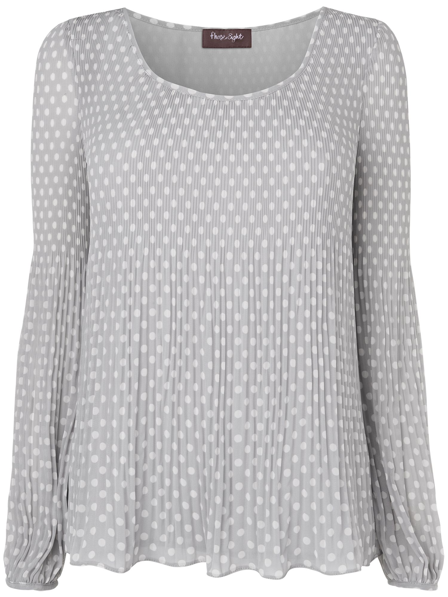 Spot pleated blouse