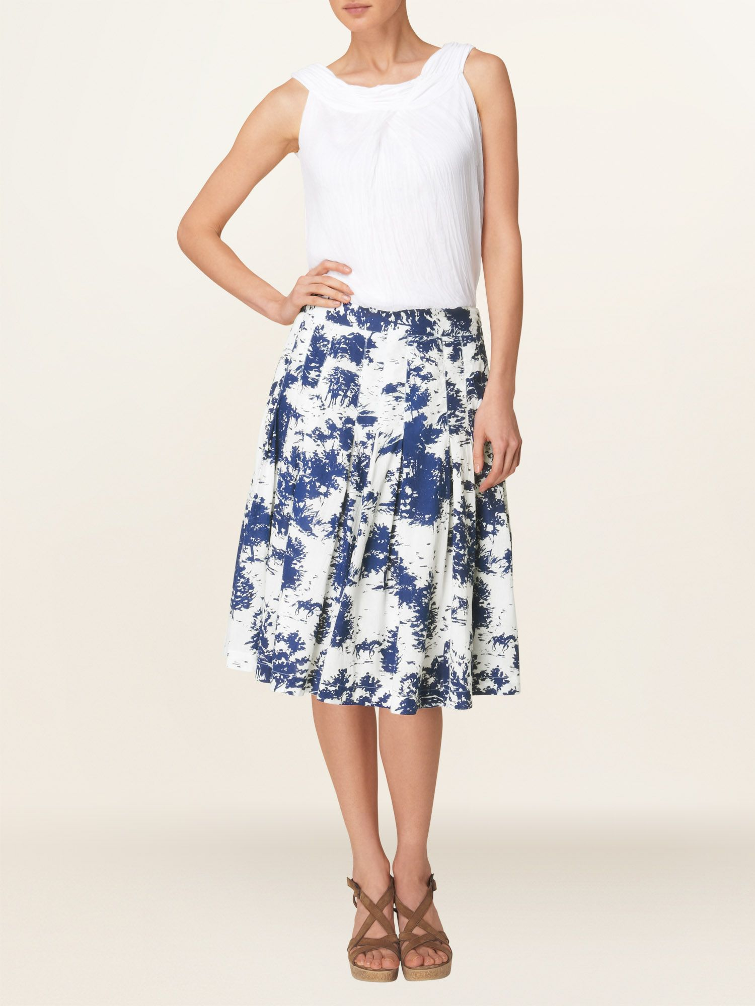 Fantine cotton print skirt