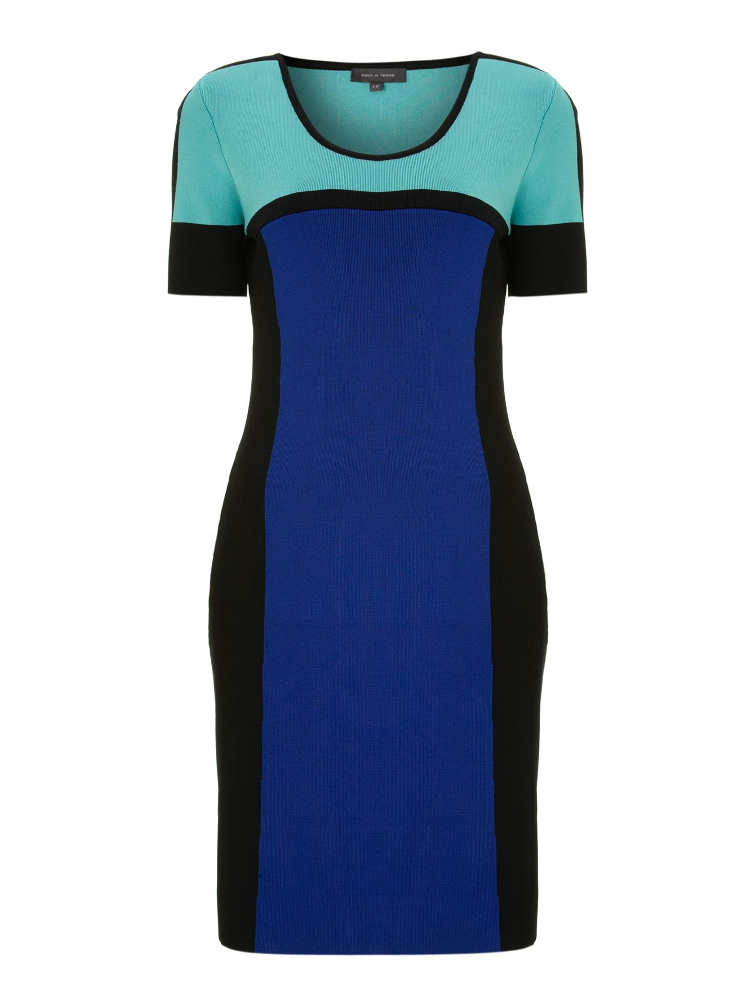 Bandage colour block dress