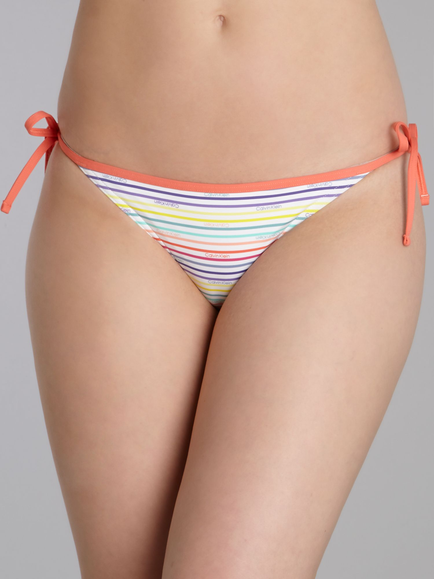 Stripe logo tie side brief