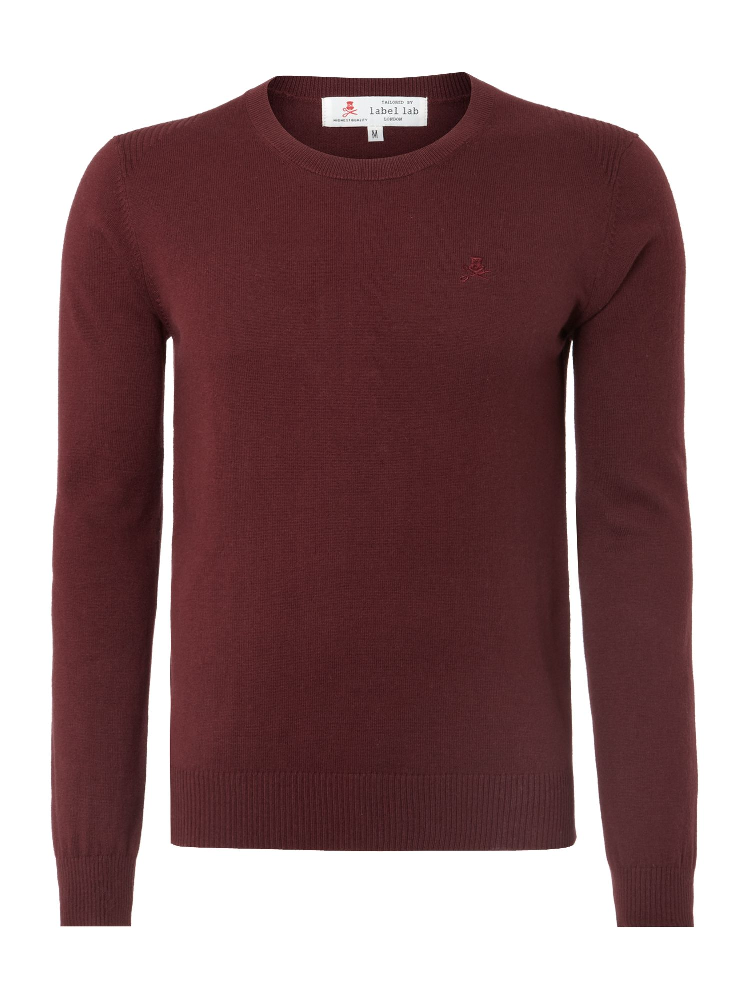 McCaught essential wool mix crew neck jumper