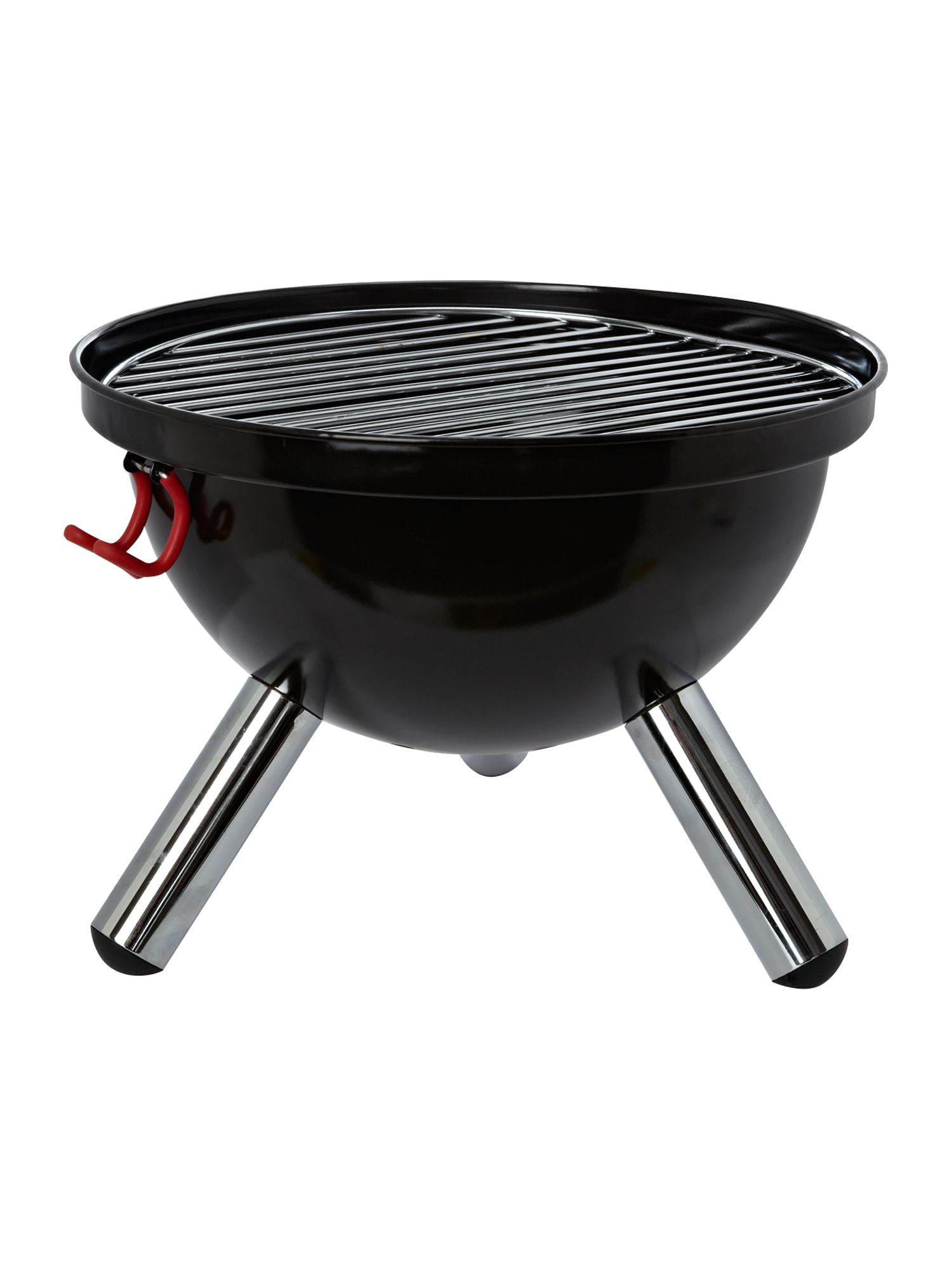 Fyrkat mini picnic charcoal barbecue grill, black