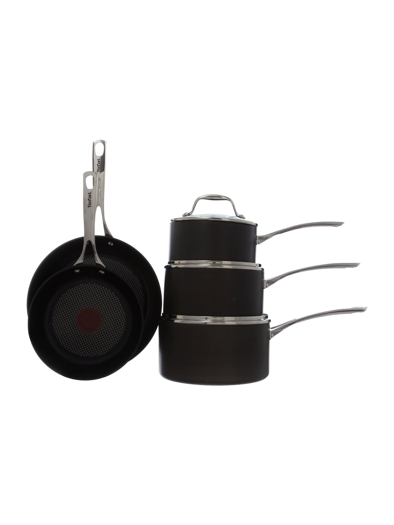 Gourmet anodised 5pc pan set